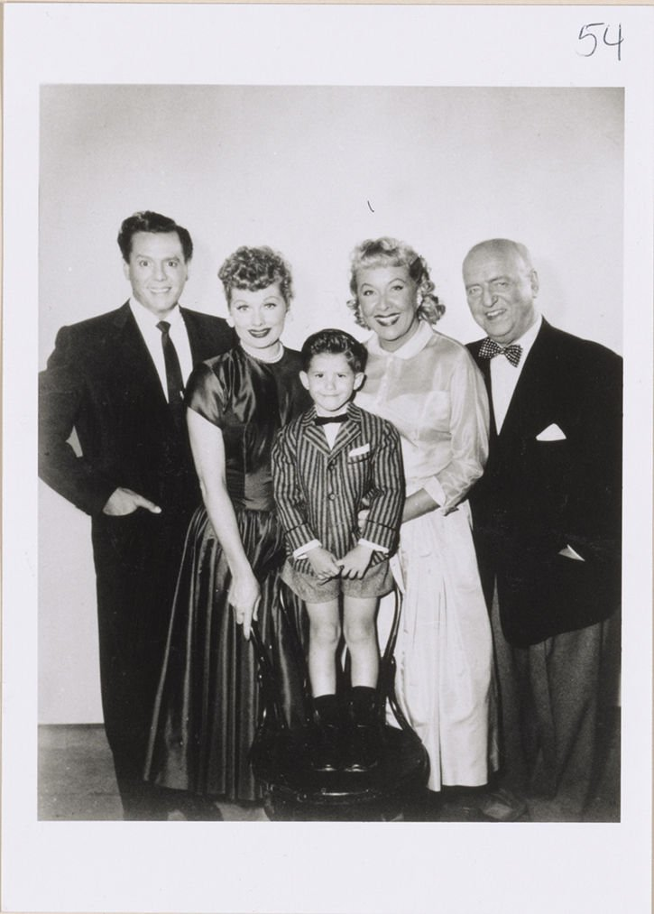 """Little Ricky and the Cast of CBS's """"I Love Lucy"""" in 1956"""