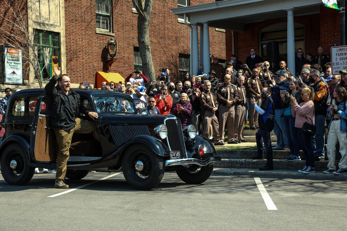 The car John Dillinger used to escape from Crown Point returns to Crown Point.