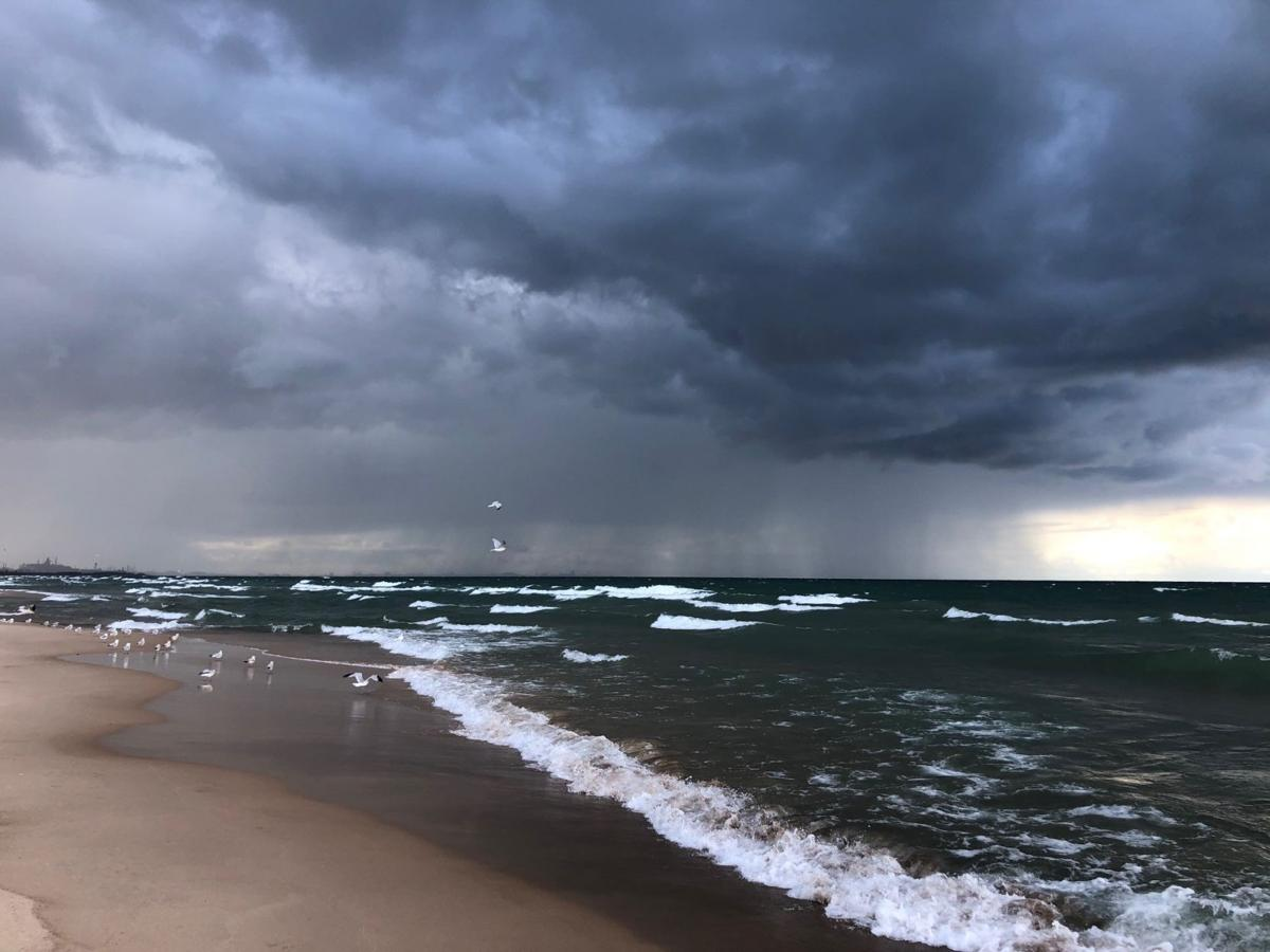 High waves, stormy conditions bring hazards at Marquette Park