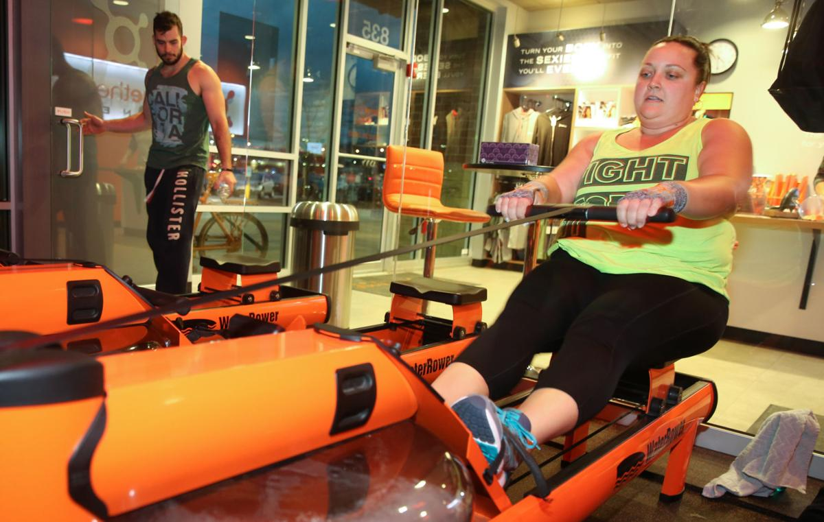 Melissa Diekelmann works out at Orangetheory
