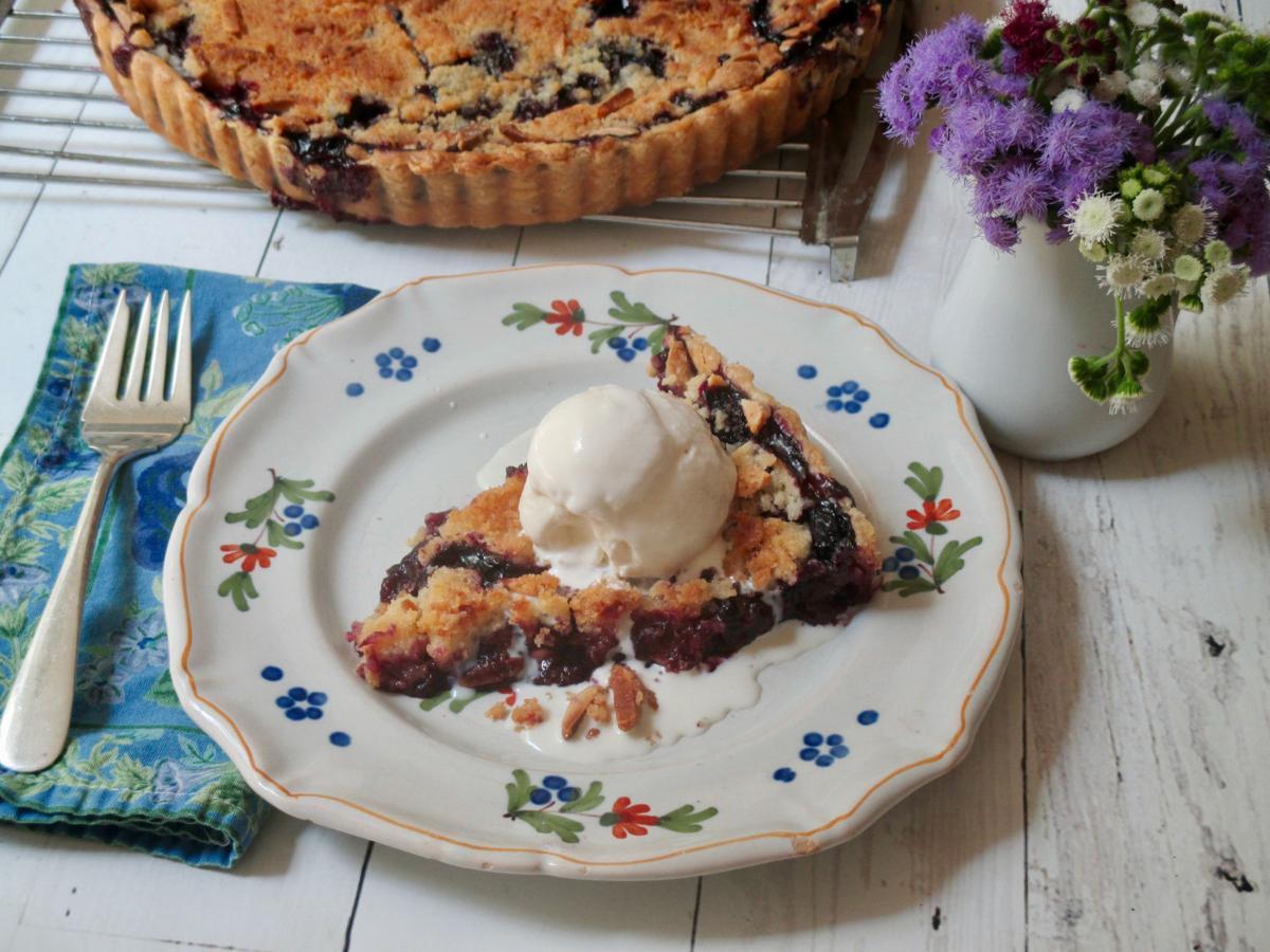 Food Column KitchenWise Blueberry Streusel Tart
