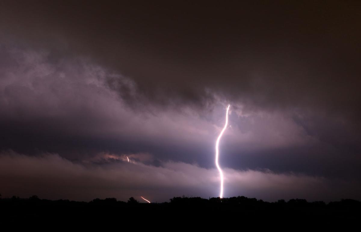 Severe weather lightning stock