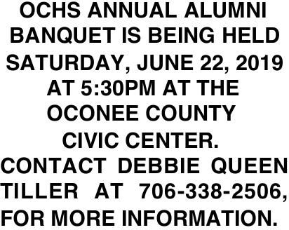 OCHS Annual Alumni Banquet