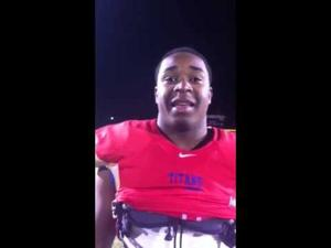 Postgame interview with Kawon Bryant