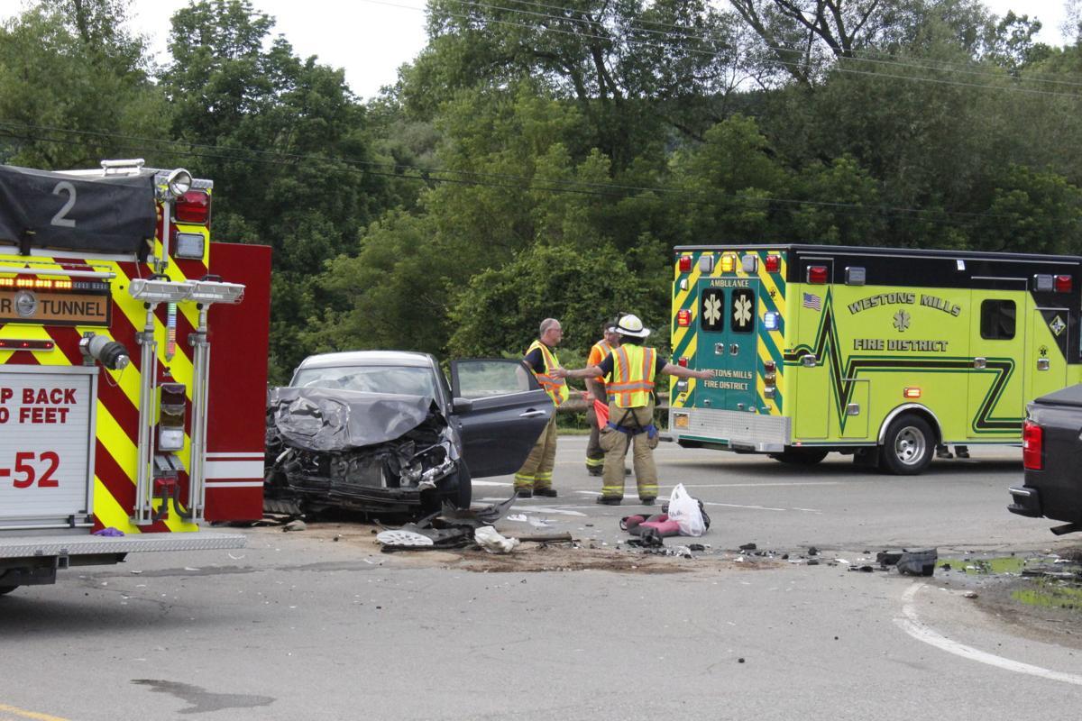 Route 16 crash sends three to hospital