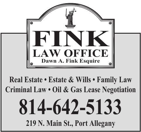 Fink Law Office   Ads To Go   oleantimesherald com