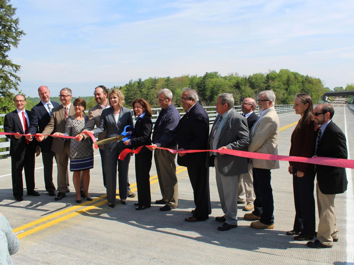 Former route 219 bridge open to traffic news oleantimesherald lt governor kathy hochul center holding scissors cuts the ribbon alongside a handful of other local and state officials on the new bridge that carries biocorpaavc
