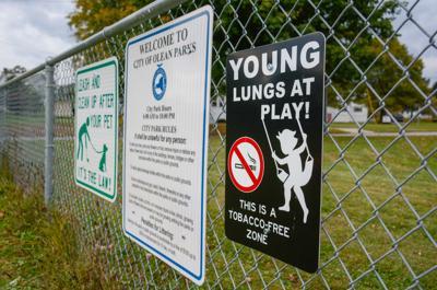 Smoking ban in parks