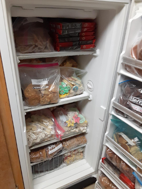 Freezer of cookies