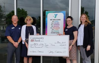 Community Bank donates to YMCA