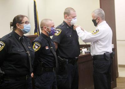 Salamanca police celebrate promotions, new hires with pinning ceremony