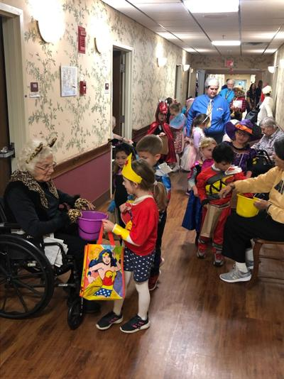 Trick or treating at Eden Heights