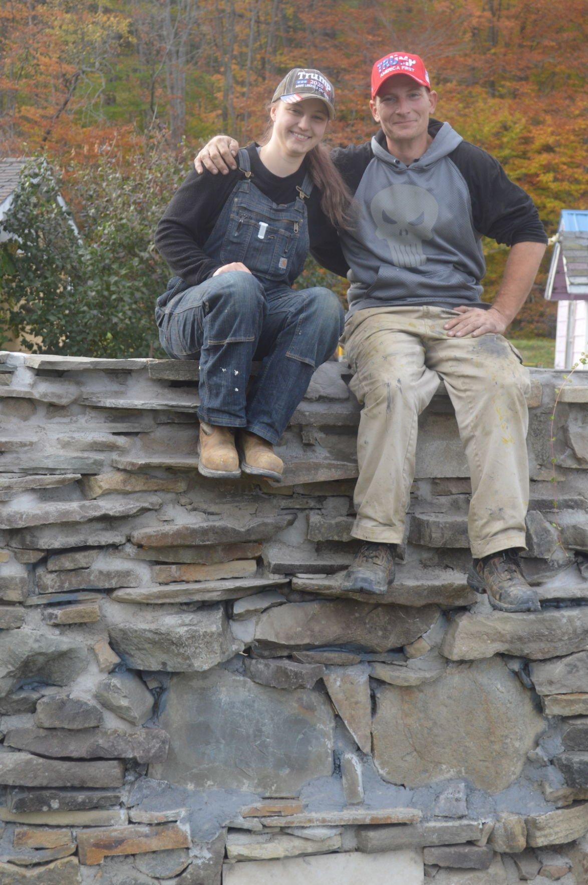 Rock wall builders