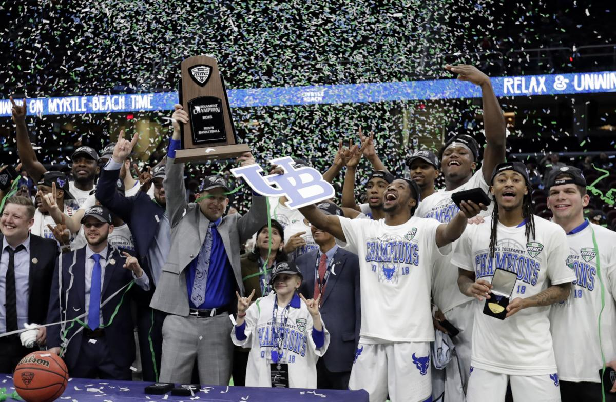 Image result for buffalo basketball win's mac tournament 2018