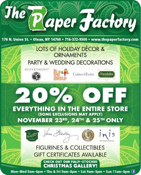 The Paper Factory: Thanksgiving Weekend Sale | Ads To Go