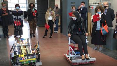 Buffalo Public Schools officials tour Salamanca STEAM program