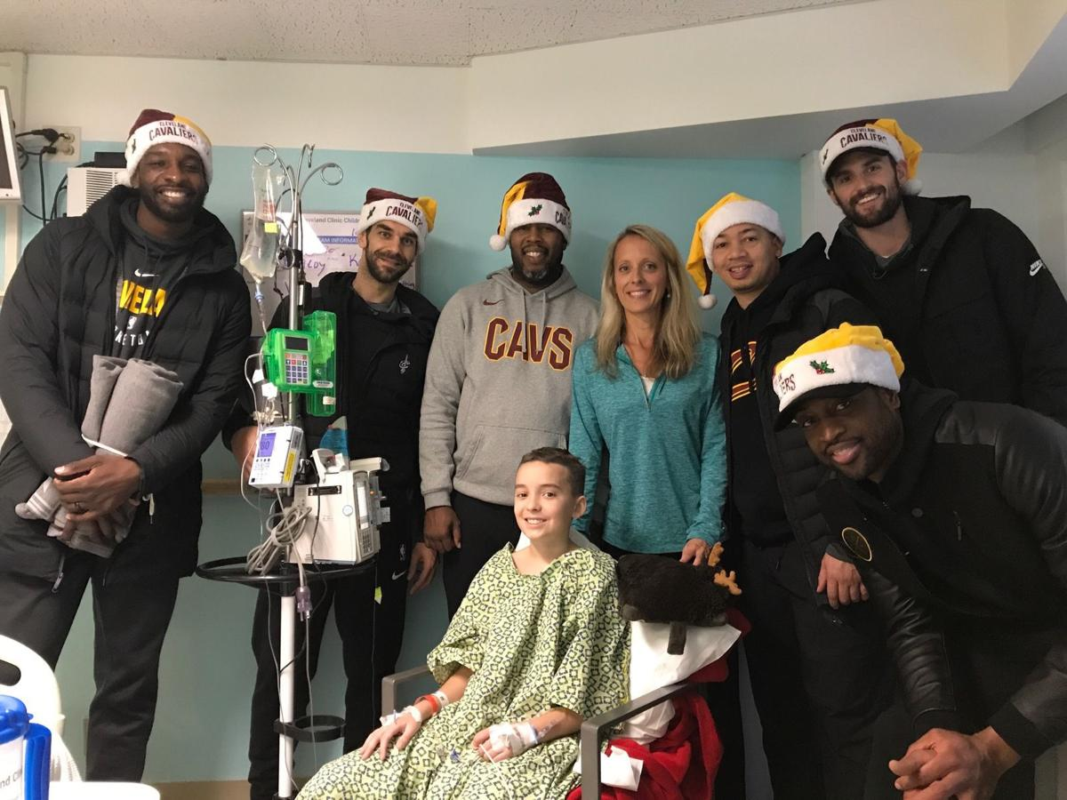 Cavs visit Allegany boy in hospital