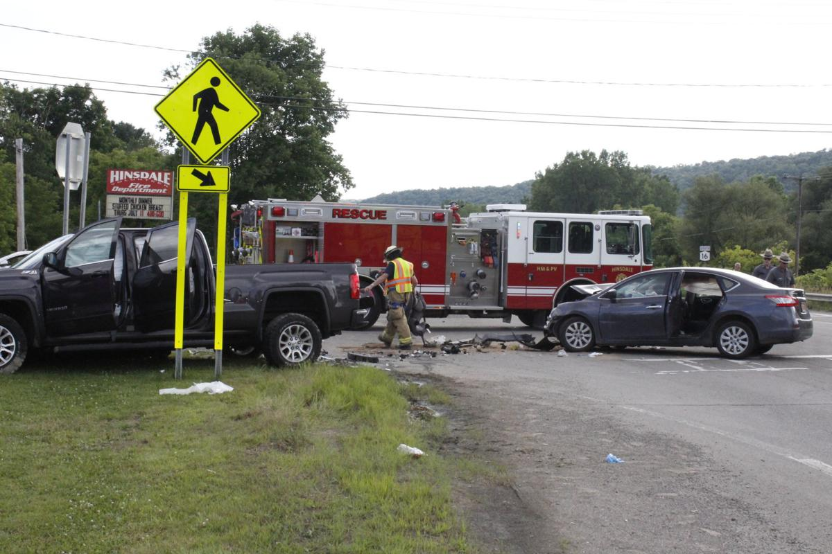 Route 16 sends three to hospital
