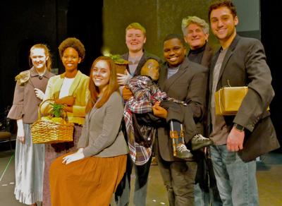 "Cast members in SBU Theater's adaptation of Charles Dickens' ""A Christmas Carol"""