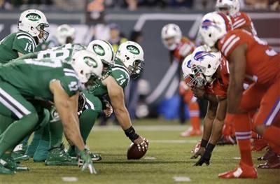 96e034cad Bright and bold  Bills-Jets wearing  Color Rush  uniforms