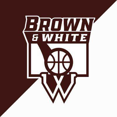 Brown and White logo