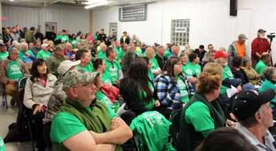 Farmersville residents packed the Farmersville Fire Hall Thursday night for a public hearing on a proposed new local law on wind turbines
