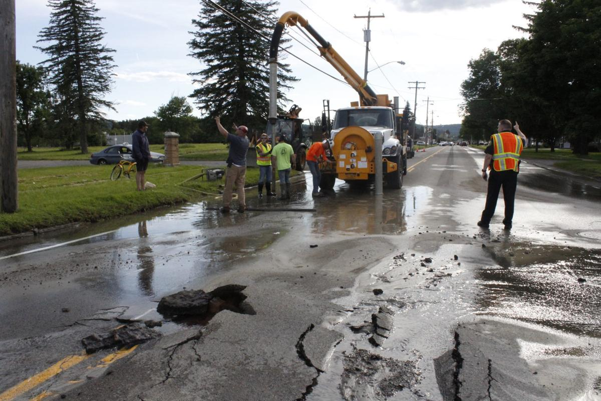 West State Street water main break