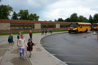 First day of school at Washington West Elementary