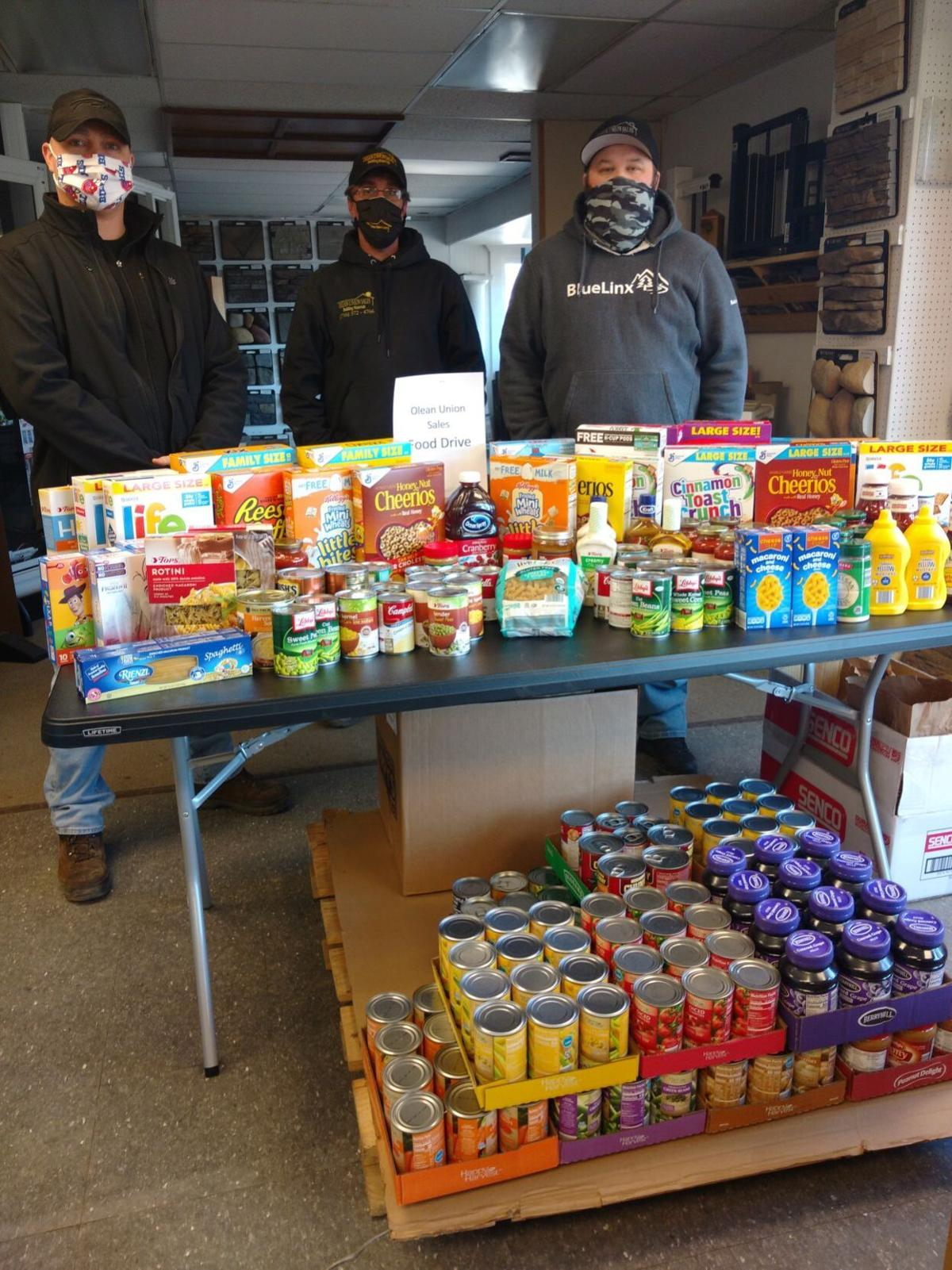Olean Union Sales food drive