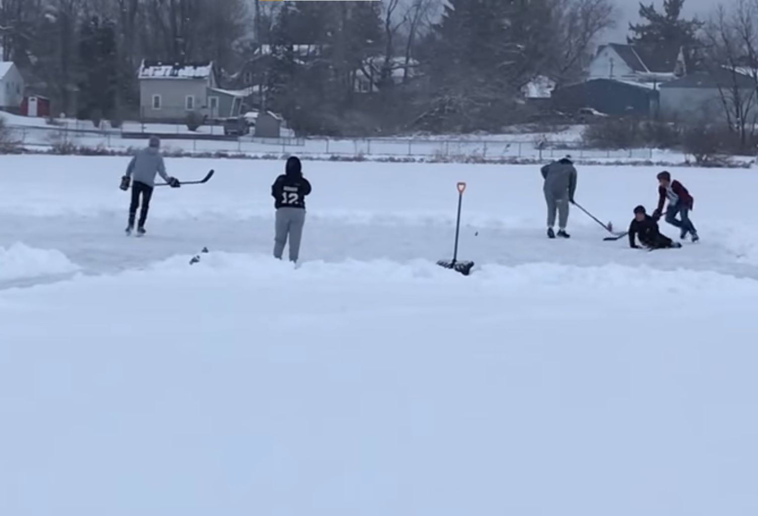 Ice skating returns to Forness Pond