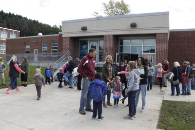 Parents pick up children from Portville Elementary School