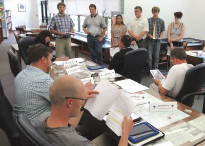 Students present forest management plan