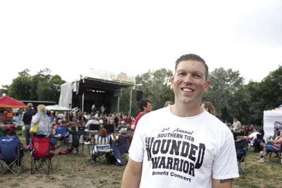 Lt. Col. Patrick Miller at Southern Tier Wounded Warrior Benefit Concert