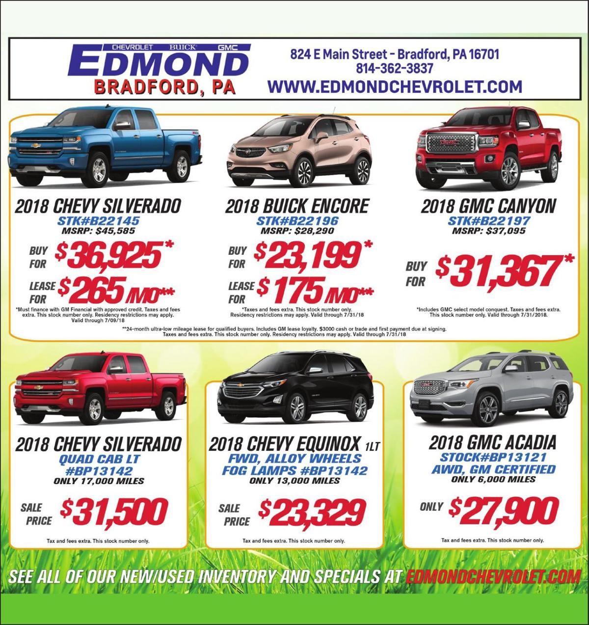 Edmond Chevrolet Ads To Go Oleantimesherald Com