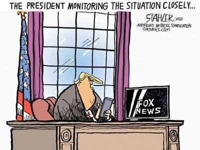 Trump monitors the situation
