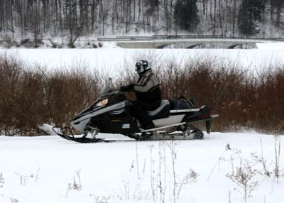 State park snowmobiling
