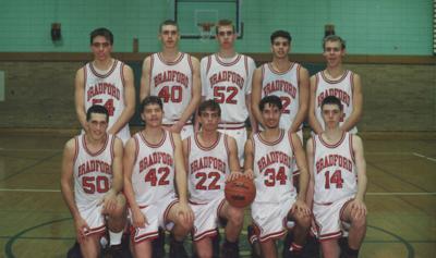 1994-'95 Bradford boys basketball team