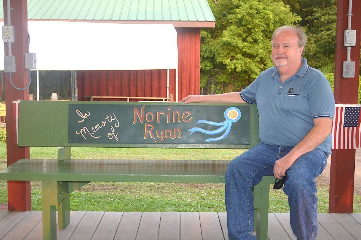 Bench honors long-time fair volunteer