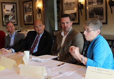 Discussing local economy