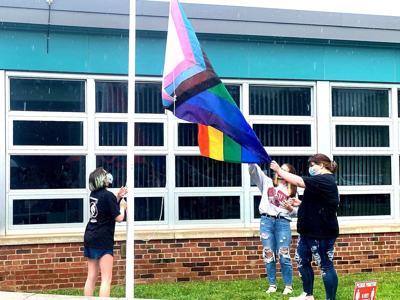 Salamanca student group raises Progress Pride Flag at high school