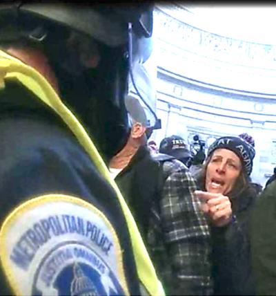 Capitol riot scene