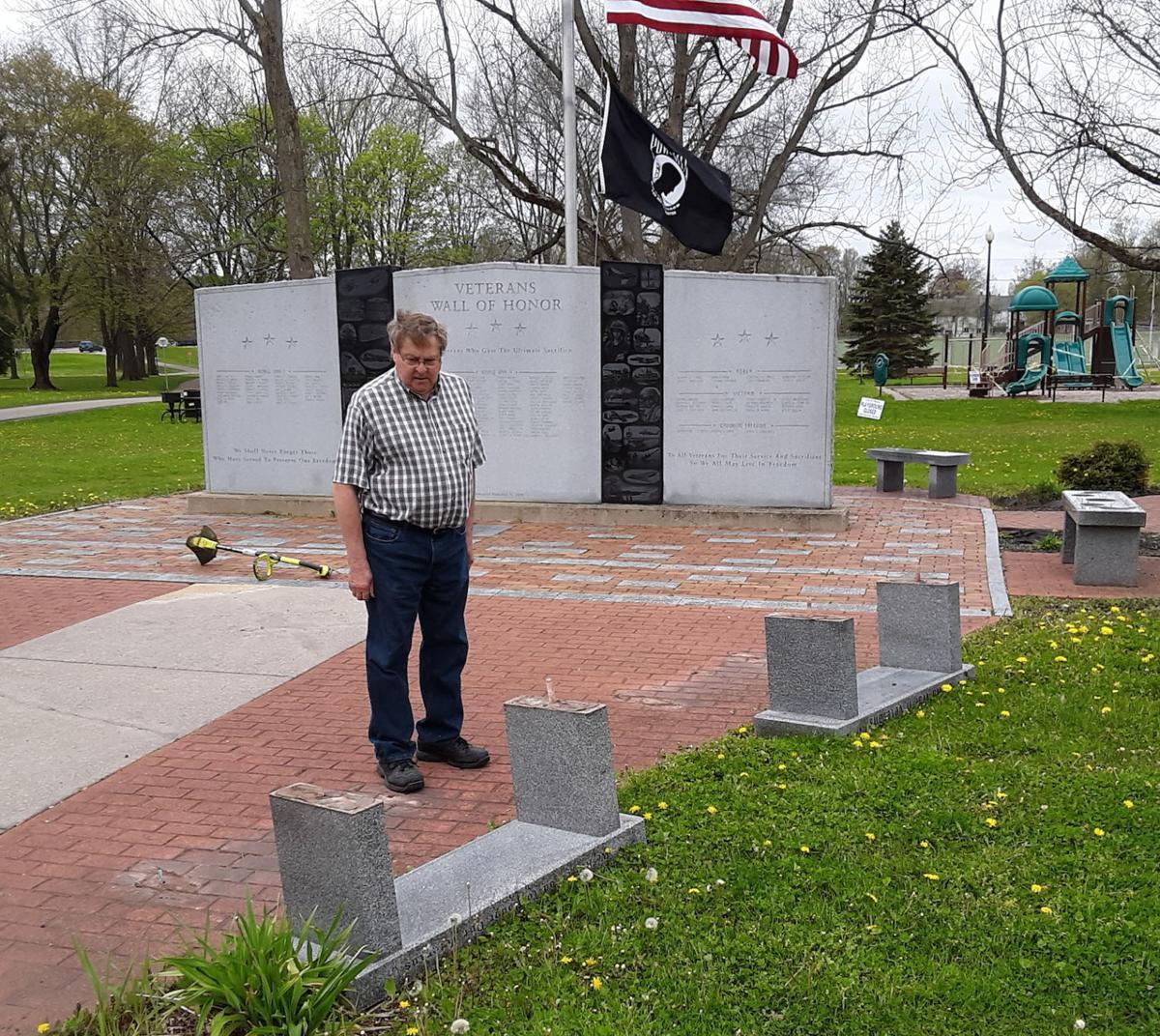 Monument damaged