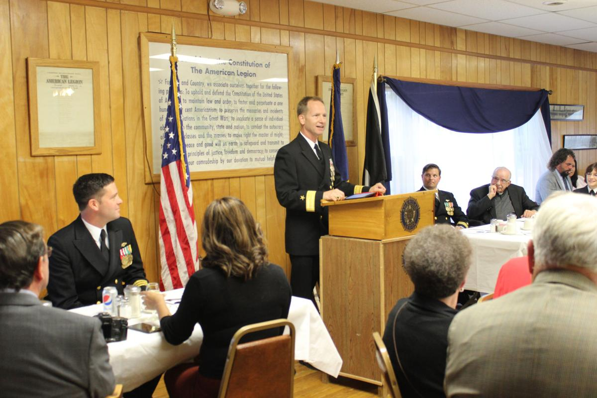 Plumb promoted to Naval Reserves captain in Randolph ceremony