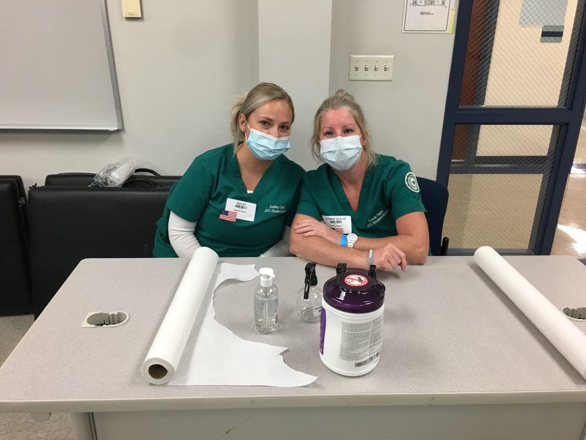 RAM nursing student volunteers
