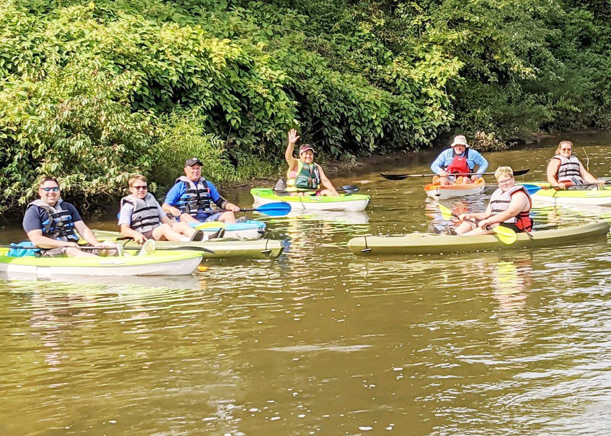 Paddling down the Allegheny on Community Kayak Day