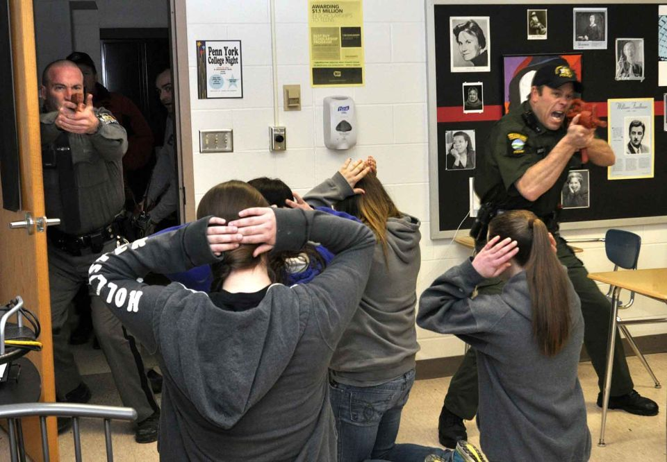 Training For The Unthinkable Police Students Get Taste