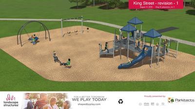 King Street Park playground rendering