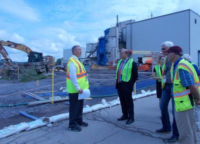 Reed visits West Valley site to view results of extra cleanup fund