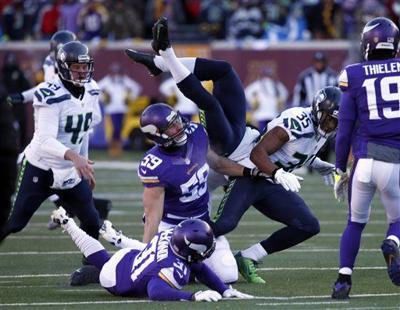 8e6c8cd8 Wild Card: Seahawks escape with 10-9 win over Vikings after Walsh ...
