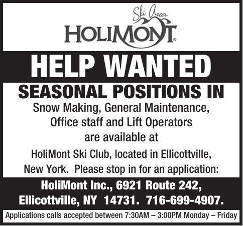 Holimont Help Wanted Ads To Go Oleantimesheraldcom